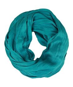 Loving this Teal Silk-Blend Infinity Scarf on #zulily! #zulilyfinds