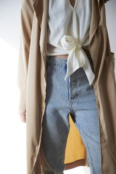 HDH Bow Cropped Top & Trench Coat