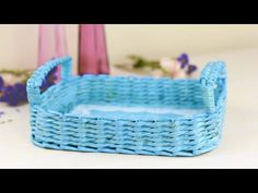 DIY Decorative Woven Paper Tray - YouTube