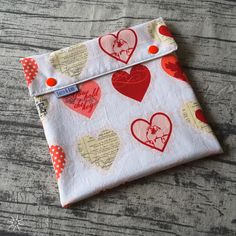 Double Compartment Wet Bag – Love Hearts | Cloth Pad Shop Cloth Pads, Wet Bag, Wet And Dry, I Am Happy, Love Heart, Make Your Own, Sunglasses Case, Daisy, Coin Purse