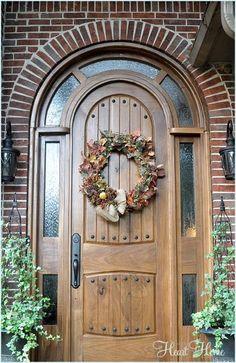 Easy Fall Wreath! #fall #fallwreath #falldecorating