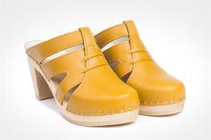 Maguba paris clogs, yellow $149.00
