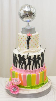 1000 Images About Disco Party On Pinterest Disco Cake