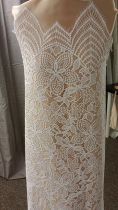 """58/"""" 1m royalblue leaf print Heavy  Embroidery Corded lace Fabric Bridal Design"""