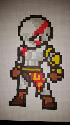 Kratos pixel art Perler Bead Art, Hama Beads, Minecraft Pixel Art, Minecraft Crafts, Modele Pixel Art, Pixel Art Grid, Art Perle, Pixel Drawing, Pix Art