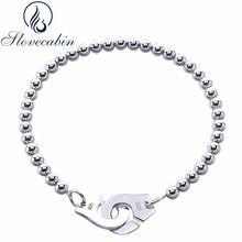 Slovecabin Luxury Jewelry Original 925 Sterling Silver Handcuff Friendship Bracelet Menottes For Women Silver Bracelet & Bangle Keep Jewelry, Jewelry Sets, Silver Bangle Bracelets, Bangles, Silver Beads, Silver Jewelry, Stamped Jewelry, Luxury Jewelry, Friendship Bracelets