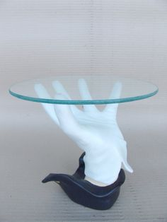 Hand Table With Glass Top