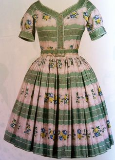 Horrockses #floral dress 1954 #vintage