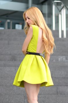 A great dress for this spring and summer! #neon #springfashion