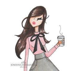 @jf.illustrations (etsy.com/shop/josefinafernandez)| Be Inspirational ❥|Mz. Manerz: Being well dressed is a beautiful form of confidence, happiness & politeness