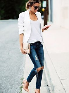 Risultati immagini per jeans and glitter top
