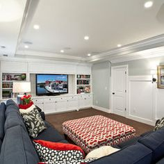 Love The Idea Of A Lounge Space/family Room In A Basement, Plus I Awesome Ideas