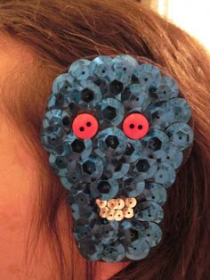 Skull Hair Clip – 30 Days of Creativity, Day 6. @createstuff #30daysofcreativity