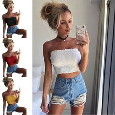 b9e698be19f Intimates Women Strapless Sexy Lady Solid Ruched Elastic Boob Bandeau Tube  Tops Bra Lingerie Breast Wrap