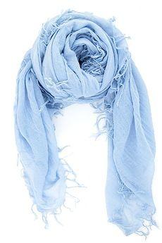 Cashmere Blue Cashmere and Silk Scarf; chan & Lu; 62 x 58