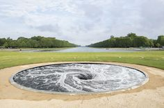 "Anish Kapoor in the Gardens of the Chateau de Versailles 2015 Paris France ""Descension"""