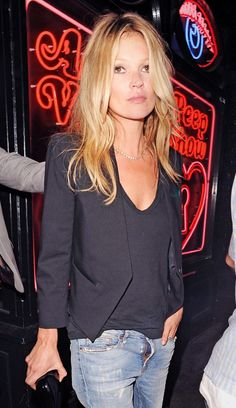 The Many Black Jackets of Kate Moss via @WhoWhatWear even with her fly open this is good!