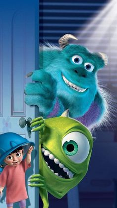 Pixar Wallpaper for iPhone from moviemania.io Pixar Wallpaper for iPhone from moviemania. Monsters Inc Boo, Monsters Inc Movie, Disney Monsters, Cartoon Monsters, Disney Pixar, Disney Art, Kawaii Disney, Disney Phone Wallpaper, Monsters Inc