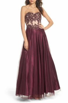 f78b6564e18 online shopping for Blondie Nites Strapless Applique Ballgown from top  store. See new offer for Blondie Nites Strapless Applique Ballgown