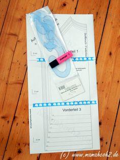 Mamahoch2: Schnittmuster anpassen #1: Halsaussschnitt vergrößern/verkleinern