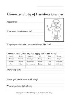 Hermione Granger Worksheet