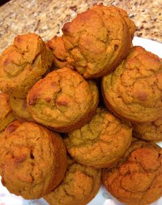 Cinnamon Pumpkin Protein Muffins... only 70 calories a muffin.