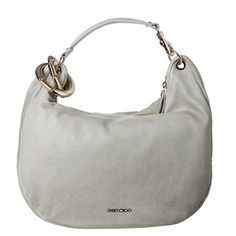 30acfcdab8e0 Jimmy Choo  Solar  Pearl Grey Calf Leather Hobo Bag