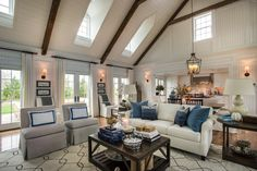 HGTV Dream Home 2015: Artistic View | HGTV Dream Home | HGTV  Love the scones and mixed chairs at dining table