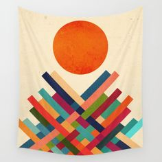 Sun Shrine Wall Tapestry