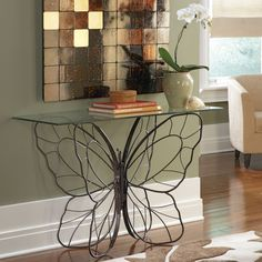 Monarch Butterfly Console Table ($289) found on Polyvore