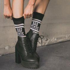 It's FRiDAY let the Bad Timez roll #Binx Boots: DollsKill.com/Binx