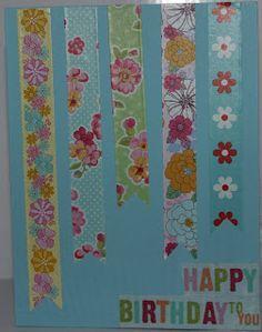 Jettescraftcorner: Washi Birthday Card Washi, Birthday Cards, Decor, Bday Cards, Anniversary Cards, Decorating, Dekoration, Deco, Decorations