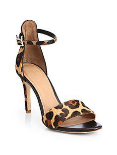 Joie - Jaclyn Leopard-Print Calf Hair Sandals