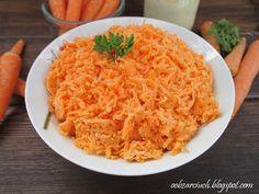 Obżarciuch: Surówka z marchewki z chrzanem Polish Recipes, Polish Food, Risotto, Macaroni And Cheese, Salads, Good Food, Rice, Ethnic Recipes, Places