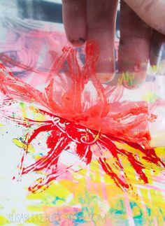 Monotype: How to print with plastic bags by Alisa Burke.  Includes a video and great pictures of the process.  Introduce with the idea of layering to build up a surface.