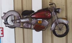 Nice 40 Inch Metal Motorcycle Wall Art