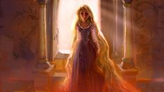 Rapunzel- Vis Dev painting. Drawing by Jin Kim. Rough concept by Claire Keane  Art directed by Dave Goetz