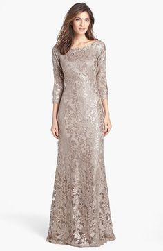 Tadashi Shoji Embellished Lace Gown | Nordstrom (not sure if this is too wide in the shoulder)