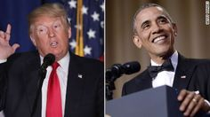 "Donald Trump said Monday he was ""fine"" with President Barack Obama's jokes about him at the White House Correspondents' Dinner Saturday, brushing it off by saying he had ""heard it before."""