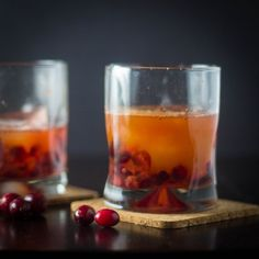 What to do with leftover cranberries? Make this twist on a classic Manhattan, kick up your feet, and enjoy the long holiday weekend!
