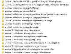 Liste des formations en massages du monde à suivre à distance