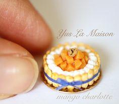 "688 Likes, 5 Comments - yuka (@yus.la.maison) on Instagram: ""2017.6.21 . . miniature size 1/12 mango charlotte cake . . 先週、マンゴーのシャルロットが出来ました☺️❤️ .…"""