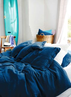 Bettbezug Lovely Linen von Kardelen (Blau)
