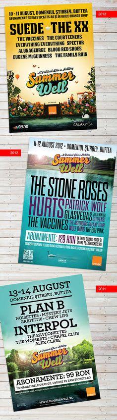 Summer Well Festival by Bojan Spasić, via Behance