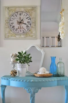 annie sloan chalk paint provence hall table 032