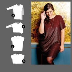 Dress and top - Stoff & Stil Dress Making Patterns, Couture, Sewing Clothes, Dressmaking, Curvy, Short Sleeve Dresses, Tunic Tops, T Shirts For Women, Fabric