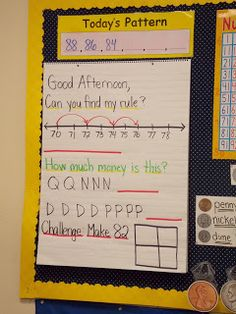 A day in first grade: Math, math, and more math