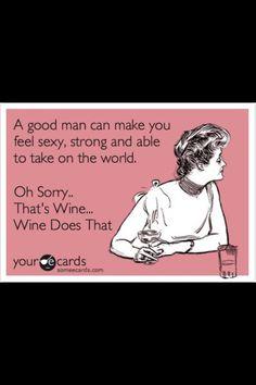 My hubby vs. Chardonnay...LOL!