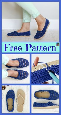 Crochet Slippers Using Flip Flop Soles – Free Patterns #freecrochetpatterns #crochetslippers #crochetshoes