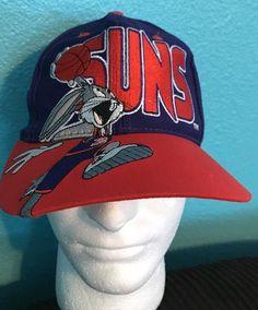 sports shoes fa7fe 92b53 PHOENIX SUNS Hat Cap Snapback Vintage NBA Basketball Looney Toons 90s Space  Jam   eBay 90s